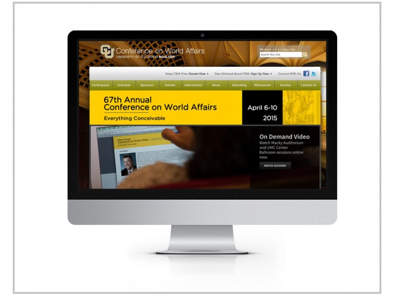 University of Colorado Boulder Website Design