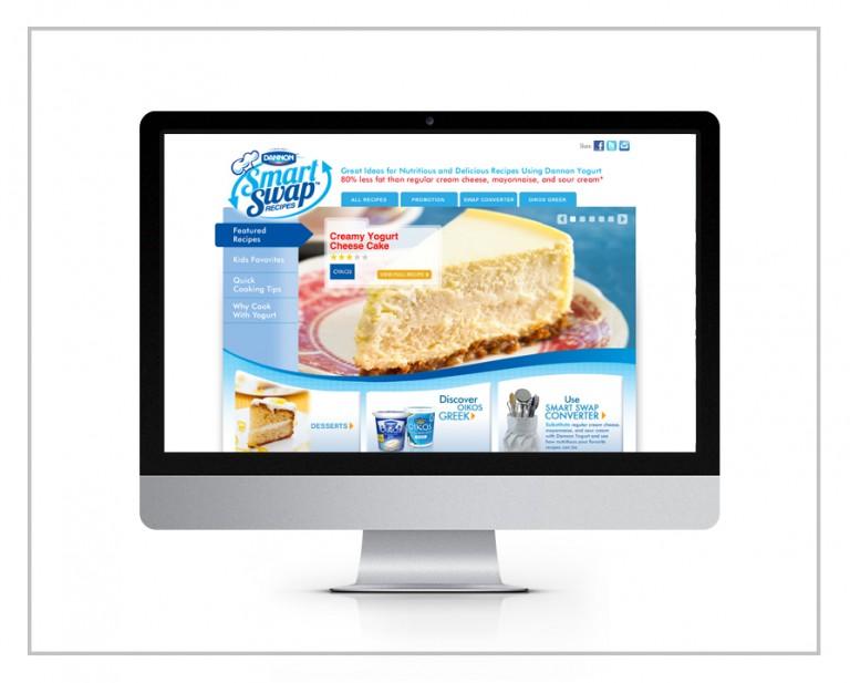 Dannon Yogurt Website Design