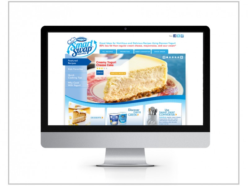 Dannon Yogurt Website Design