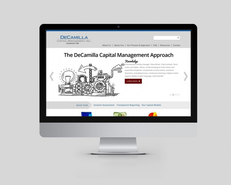 DeCamilla Capital Management Website Design & Drupal Development