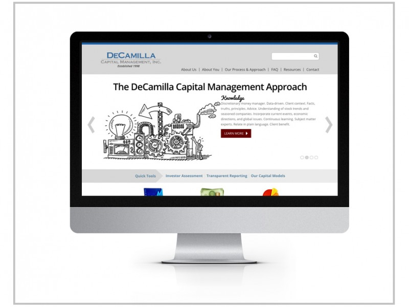 DeCamilla Capital Management Website Design & Drupal Development