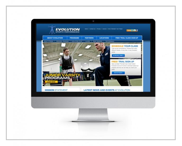 Evolution Sports Performance Website Design & Drupal Development