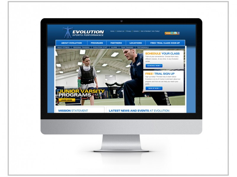 Evolution Sports Performance Website Design & Drupal Development