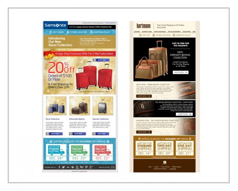 Samsonite HTML Email Design