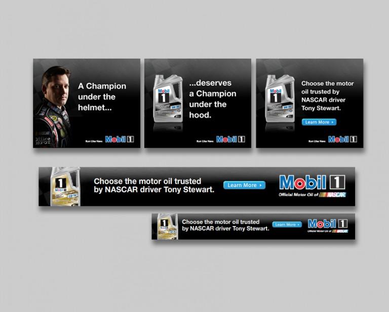 Mobil Oil Web Banner Campaign