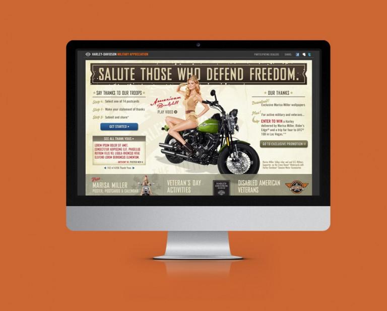 Harley-Davidson Website Design