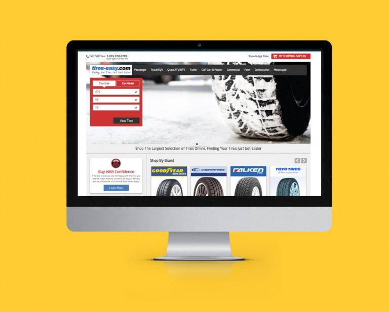 Tires Easy E-commerce Website Design