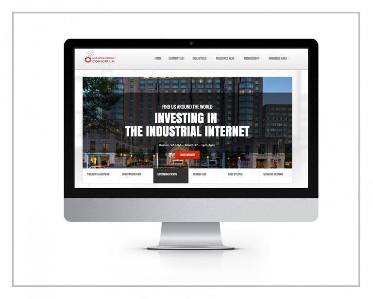 Industrial Internet Consortium Web Design & HTML Development