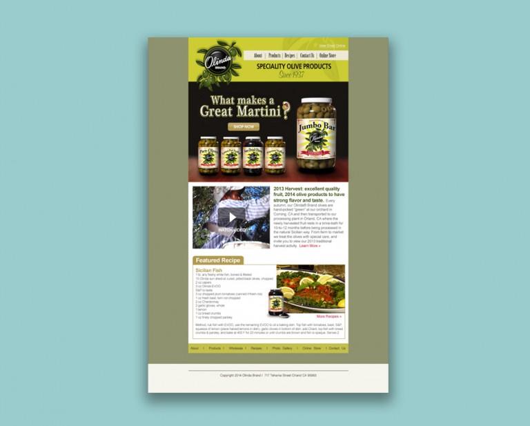 Olinda Olives HTML Design