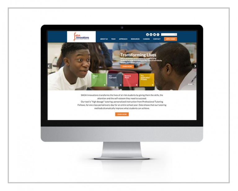 SAGA Innovations Website Design & Custom WordPress Development